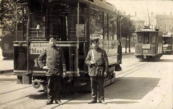 Leipzig, Straßenbahn nach Mockau, um 1910