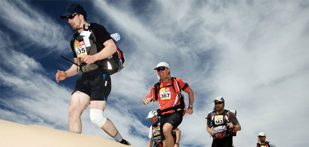 Foto: Jozef Kubica: Rene Khelifa from France after he finished the 2009 Marathon des Sables. Marocco